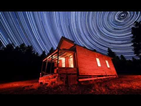 Stars moving through the sky. A time lapse video