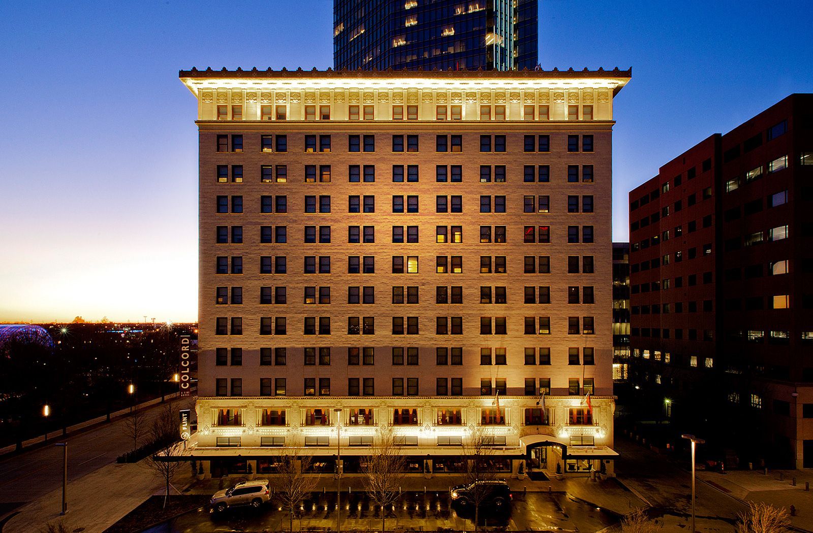 Oklahoma City Ok Situated At The Northeastern Corner Of The Myriad Botanical Gardens The Colcor Oklahoma City Hotels Downtown Oklahoma City Downtown Hotels
