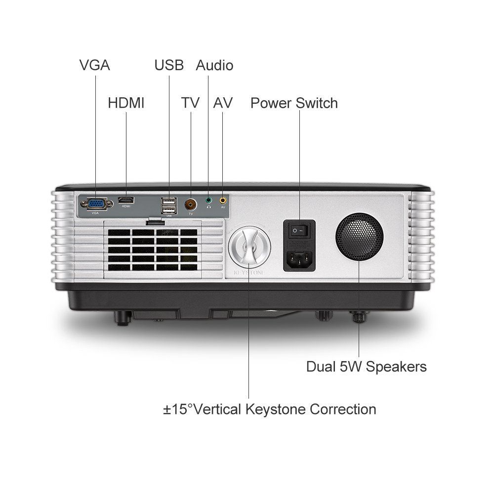 3500 Lumen Wireless Android LCD Projector Home Cinema 1280x800dpi ...