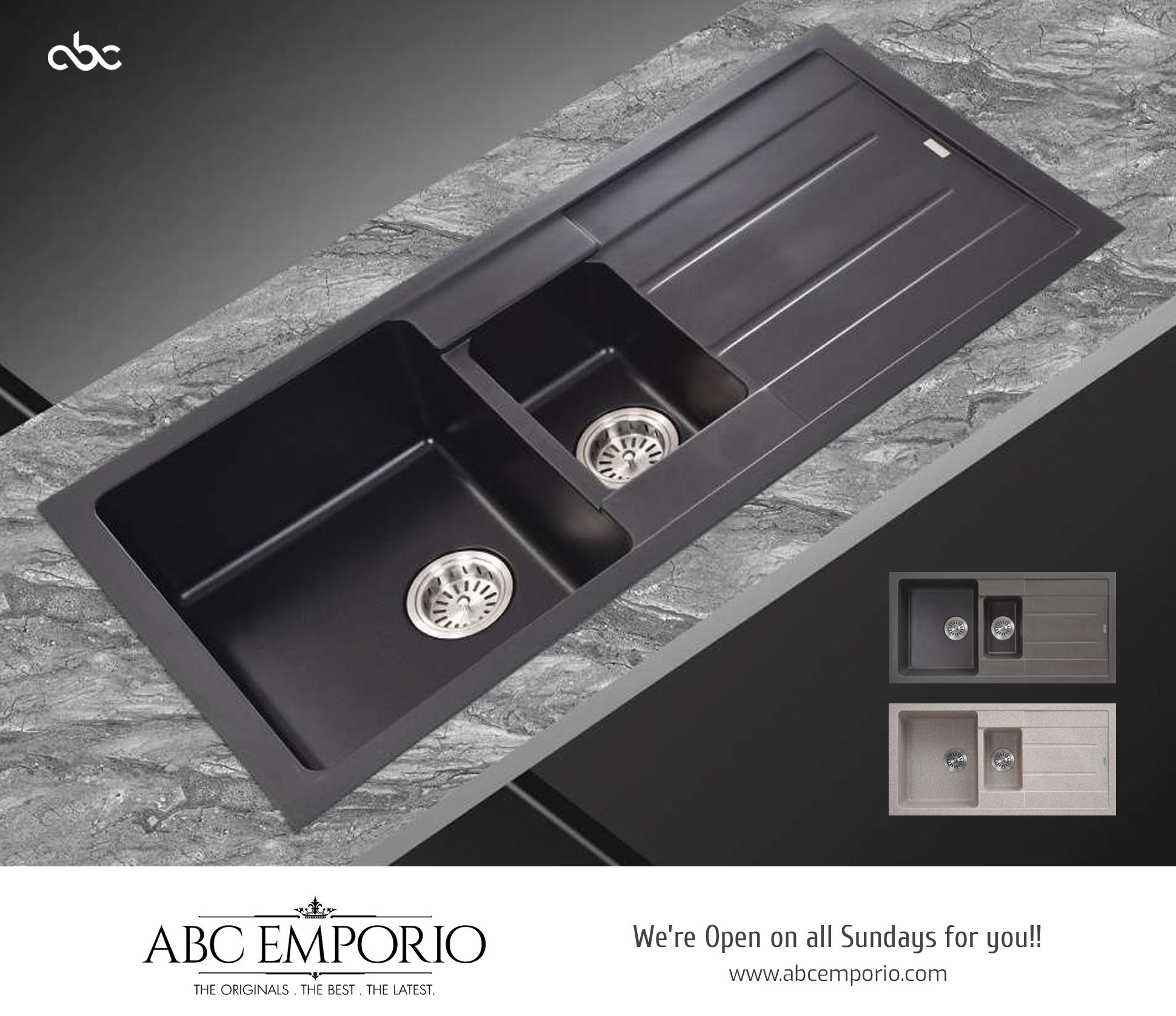Granite Kitchen Sink From Worlds Top Brands Available Abc Emporio Granite Kitchen Sinks Kitchen Design Open Wash Basin
