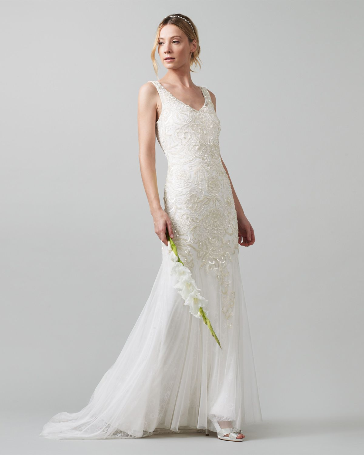 A beautiful choice for your big day this stunning wedding dress the maeve wedding dress from monsoon features a contemporary ombr effect to the sequins and an ultra flattering v back detail ombrellifo Choice Image