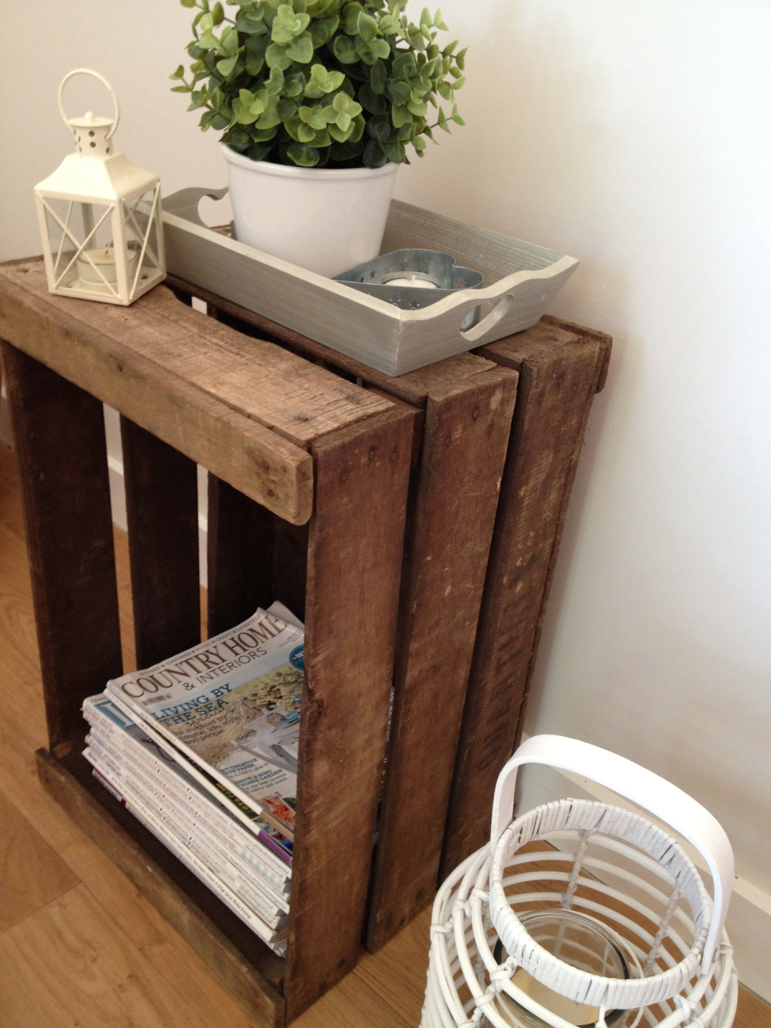 Wooden Crate Ideas Bedside Table Diy Diy Wooden Crate Crate Bedside Table