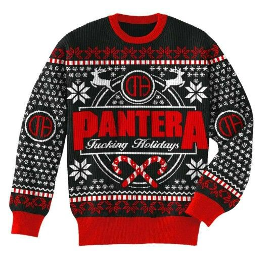 Sleigher Santa Metal Rock Music Christmas Pentagram Gift Men/'s Crewneck Sweater