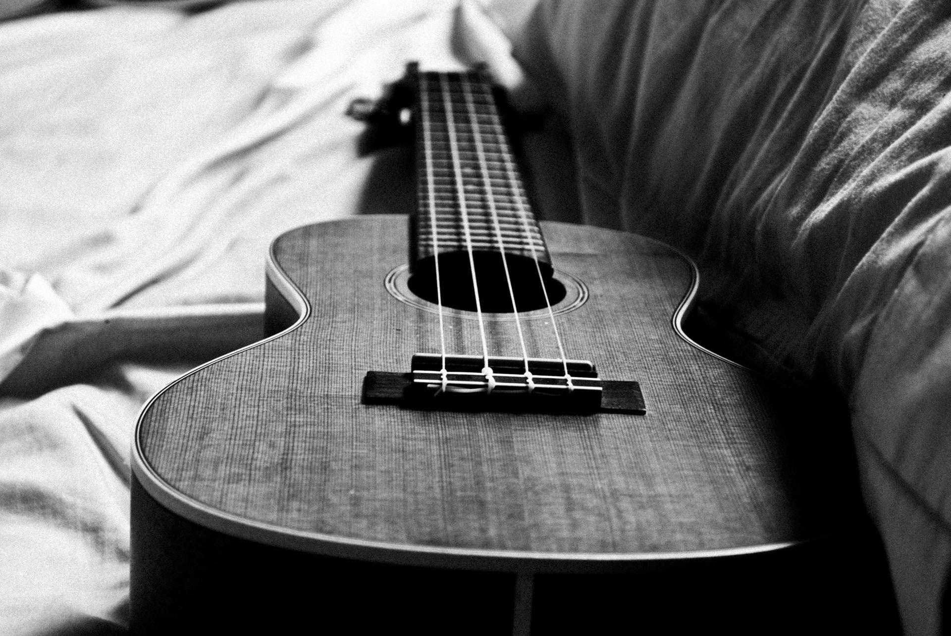 Ukulele Black And White Wallpaper Desktop Ukulele Ukulele Music