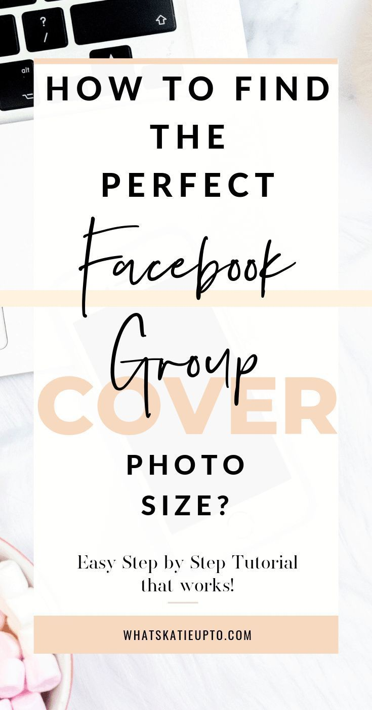What's the perfect Facebook Group Cover Photo Size Are you frustrated due to the ever changing Facebook Cover and Group Photo sizes? Does Facebook cut of your Image once you upload it to your Group? In my 5 easy steps I show you how to create the perfect Facebook Group Photo Size!
