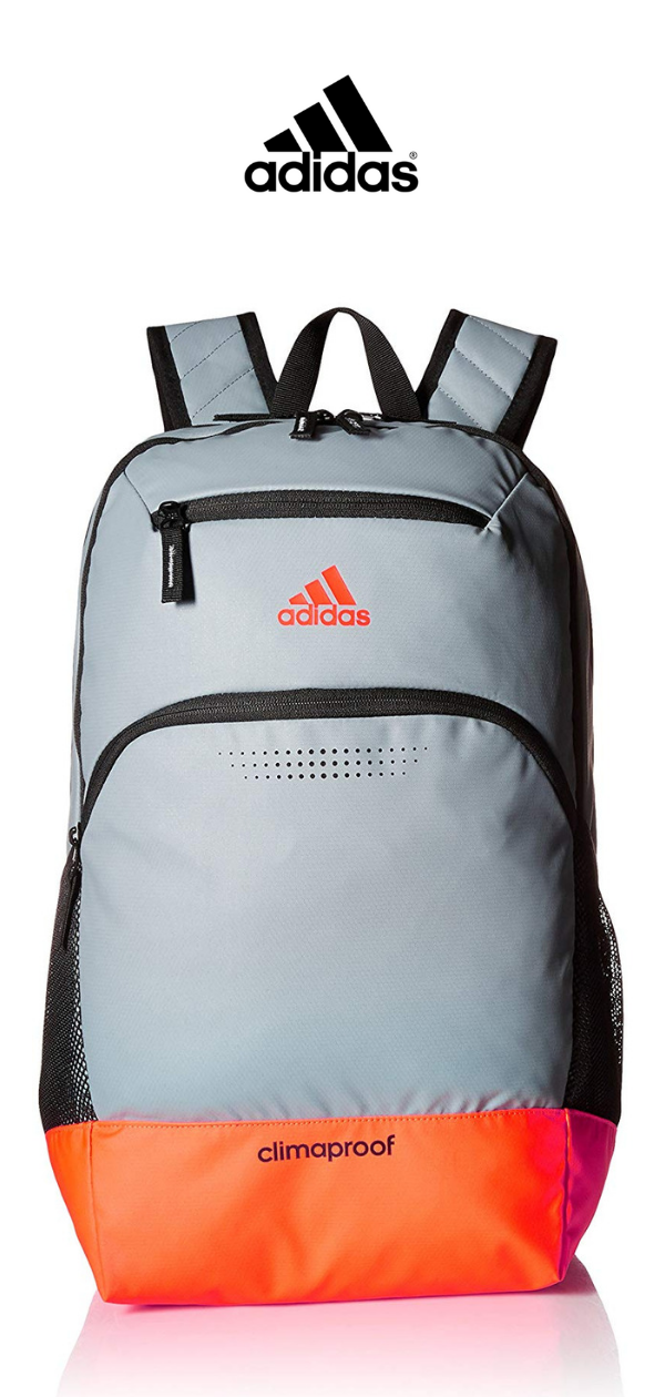 8f76411c4 Adidas Rumble Backpack | Grey Solar Red Black Neo White | Click for More  Adidas Backpacks!