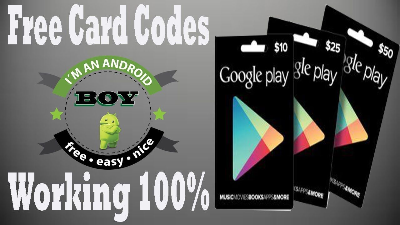 Free Googel Play Card How To Get Google Codes