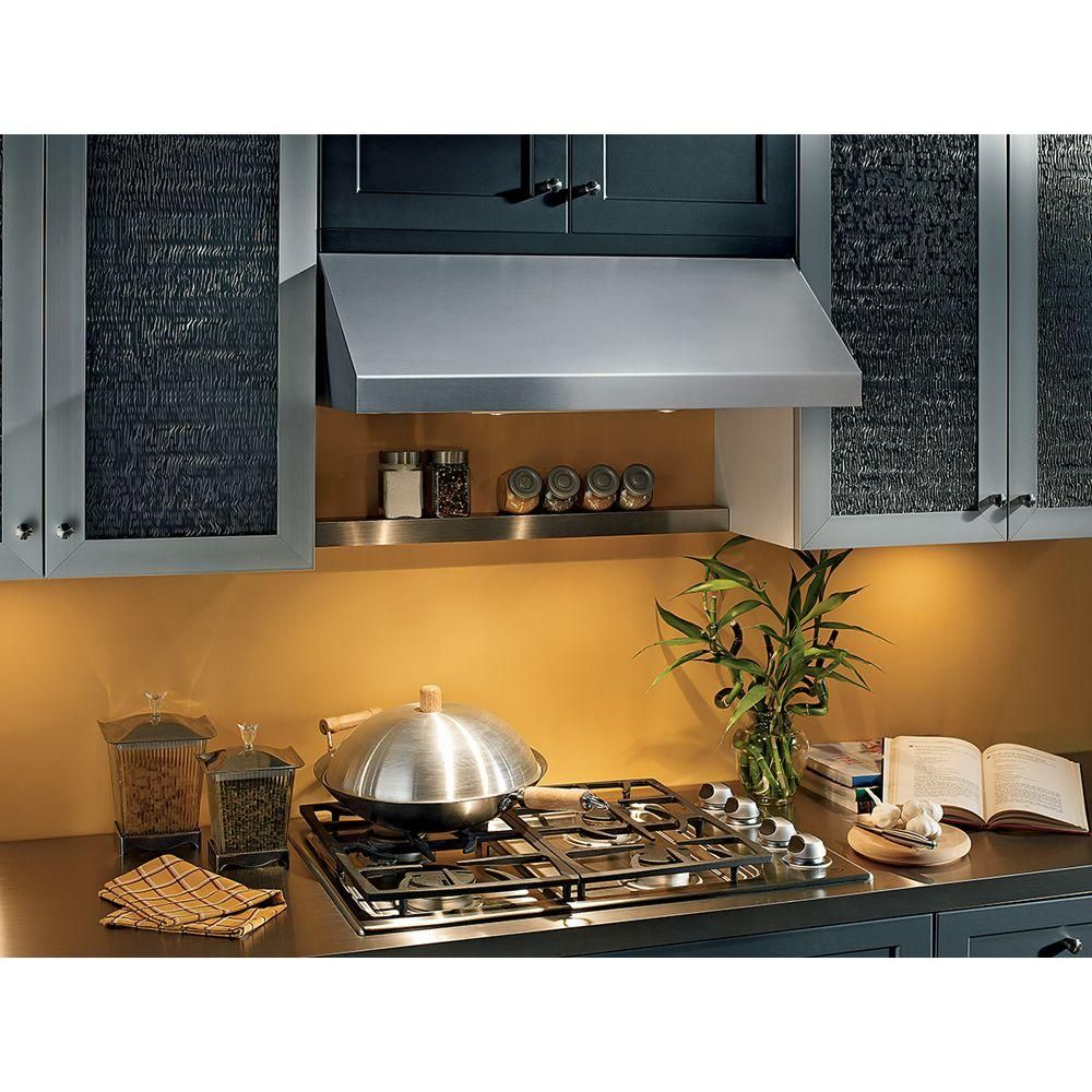 Broan Nutone Elite 15000 Silhouette 36 In Under Cabinet Slide Out Range Hood With Light In Black 153623 The Home Depot Broan Range Hood Under Cabinet Range Hoods
