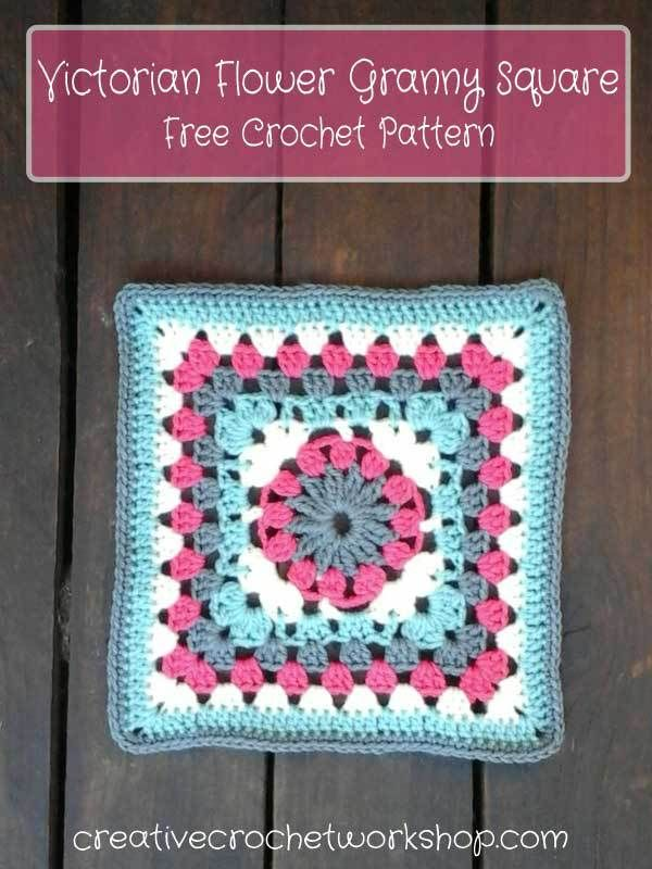 Victorian Flower Granny Square | Creative Crochet Workshop | Crochet ...