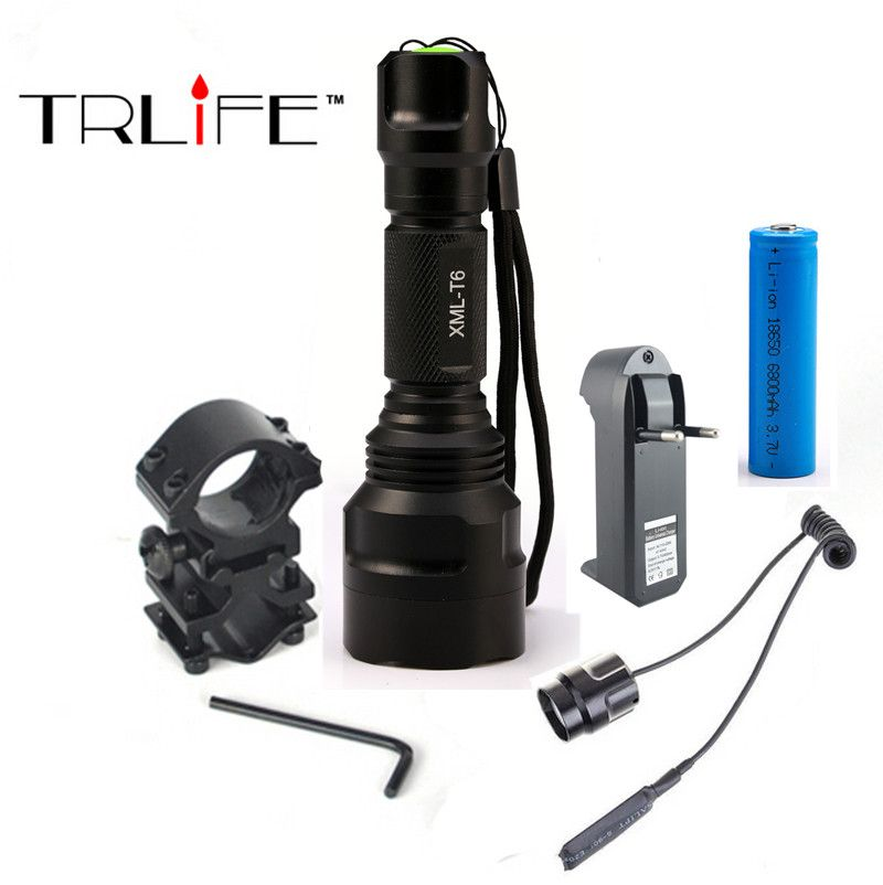 18650 Aluminium Outdoor Tactical 7 Function LED Torch Flash Light CREE T6 Zoom