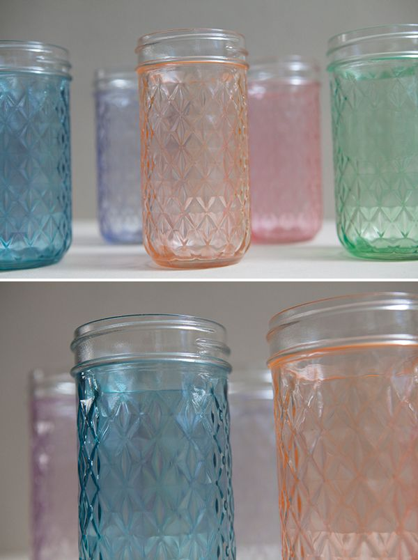 Diy Diy Wedding Tutorials Pinterest Tinted Mason Jars Glass