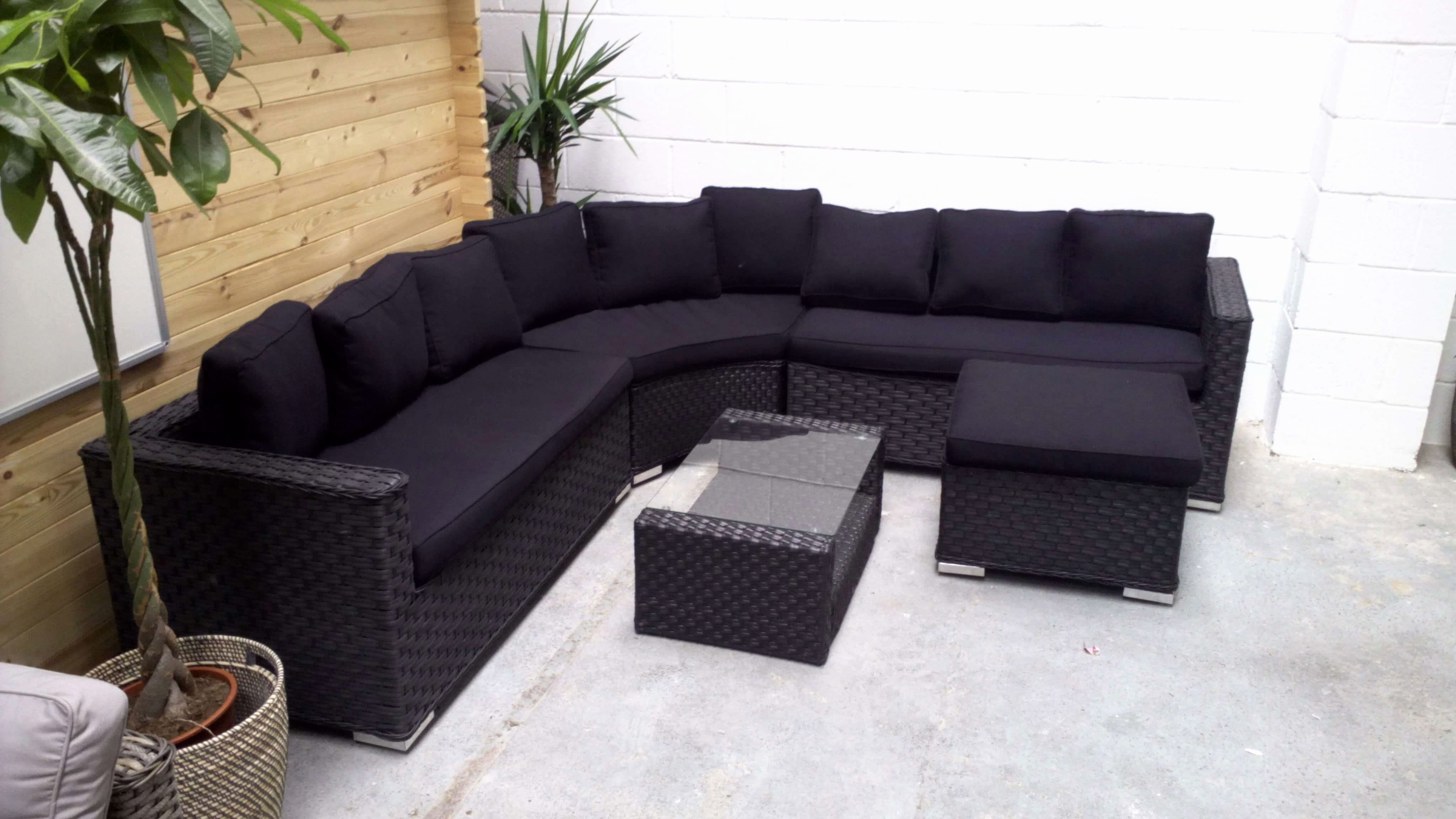 Luxury Rounded Corner Sofa Art Awesome Brantwood Rattan Round 5 Piece