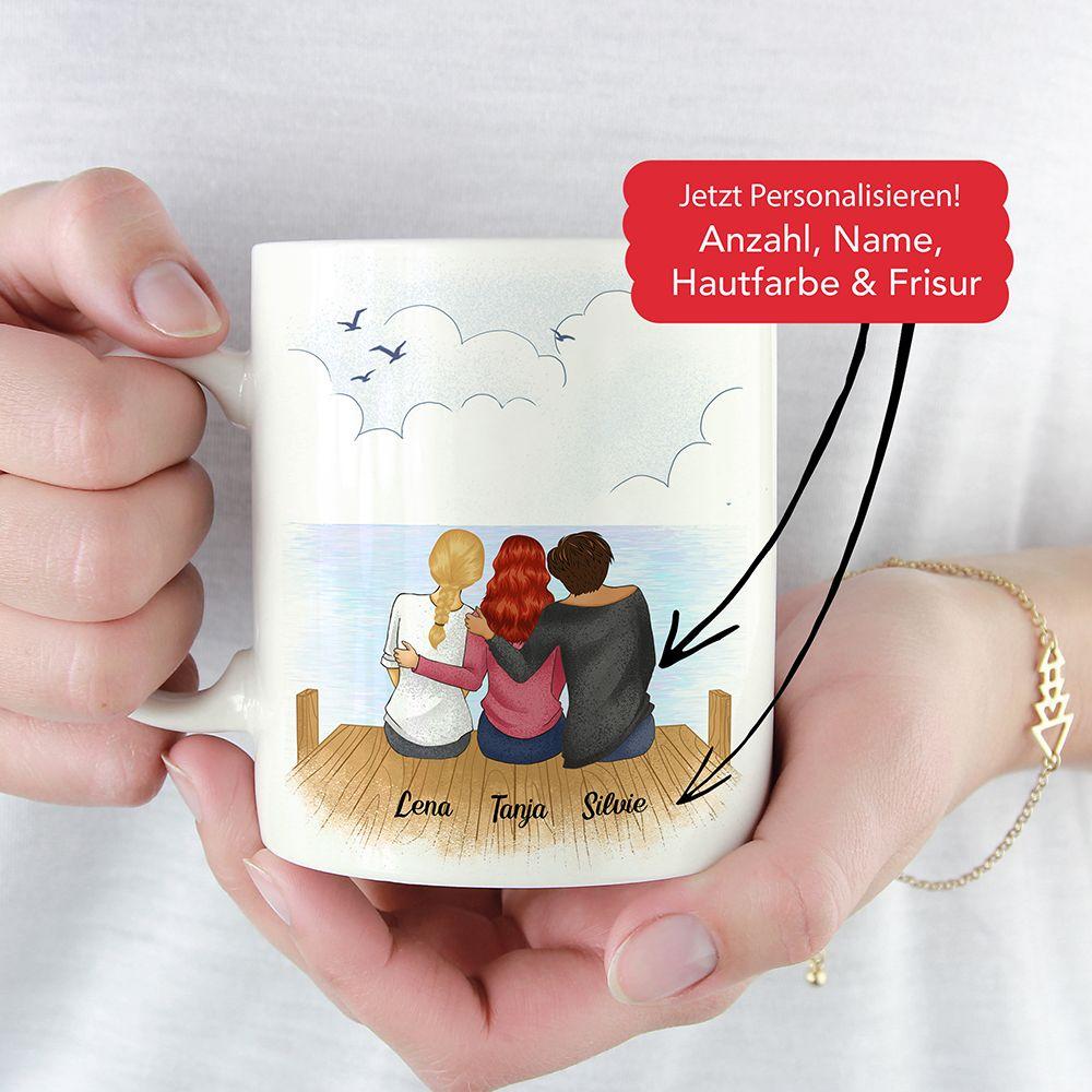 Personalisierte Freundschafts-Tasse #kleineweihnachtsgeschenkebasteln