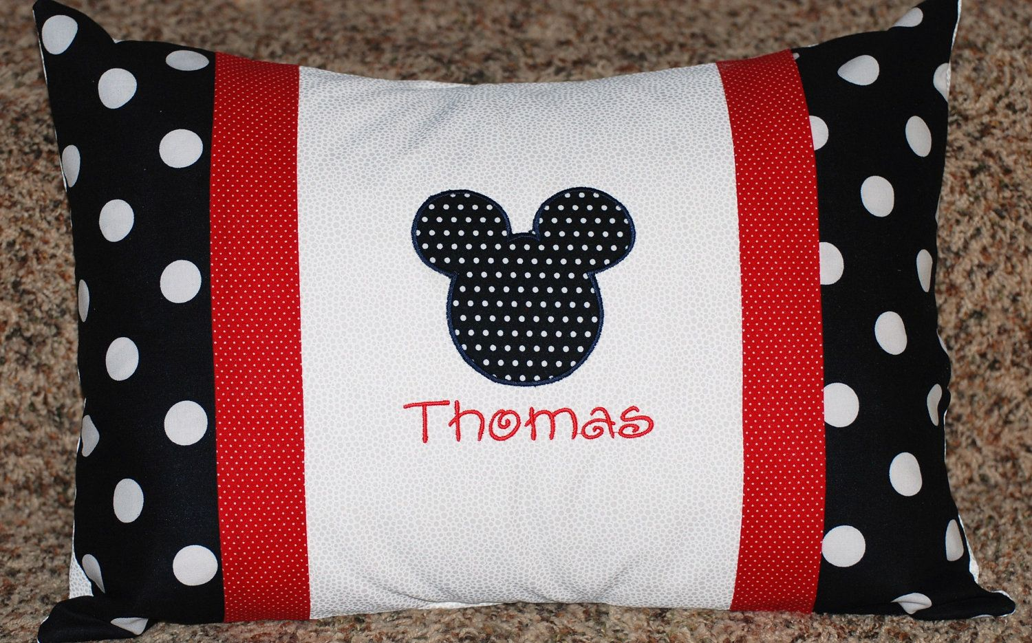 Mouse Pillowcase Need To Make This For My Sons Travel Pillow For The Car Mickey Mouse Quilt Disney Quilt Disney Pillows