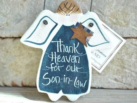 Son In Law Birthday Christmas Salt Dough Ornament Gift