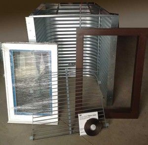 Exo Frame Diy Egress Window Kit Egress Window Diy Frame