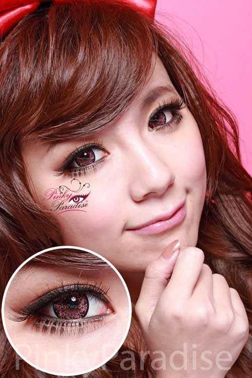 e6ccf35e3 Vassen Hello Kitty Pink [yearly]   Girly Geek   Black contact lenses ...