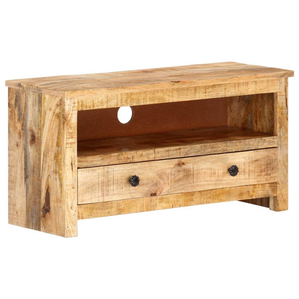 ZUN TV Cabinet 31.1″x11.8″x15.7″ Rough Mango Wood 320188
