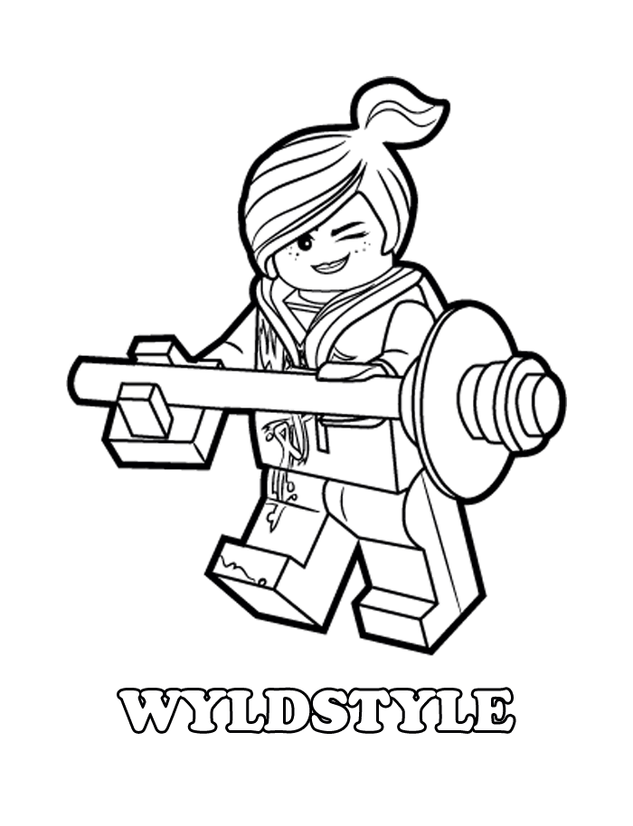 Wyldstyle Is Emmets Friend And A Good Female Fighter Who Will Help Him Save Bricksburg Just Print It Enjoy With This Free The Lego Movie Coloring
