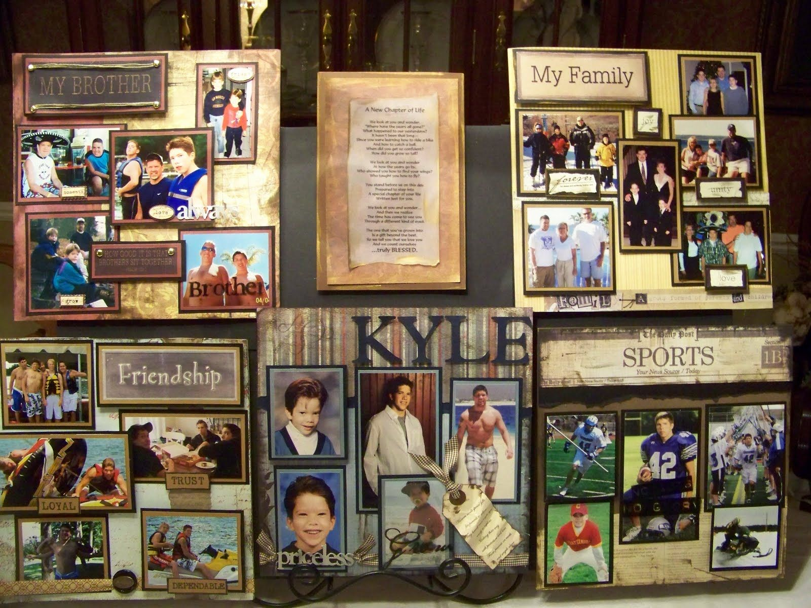 Scrapbook ideas graduation - Picture Displays For Graduation Party These Boards Make Wonderful Displays For Graduation Parties And Will