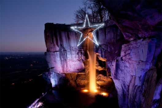 Enchanted Garden of Lights at Rock City in Lookout Mountain Georgia
