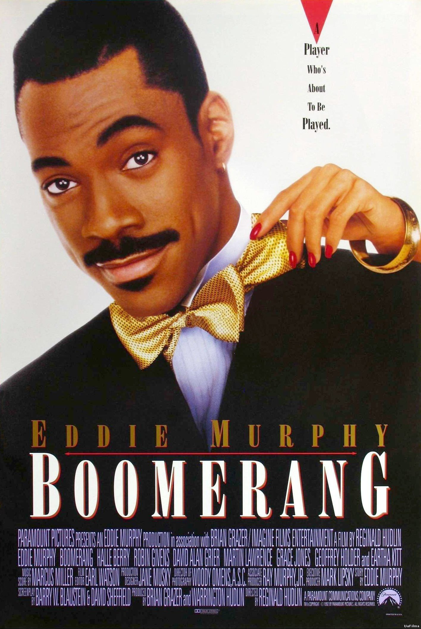 Boomerang Movie Poster 1992 Eddie Wanted To Break Away From The Action Comedies In Favor Of More African American Movies Eddie Murphy Movies Eddie Murphy