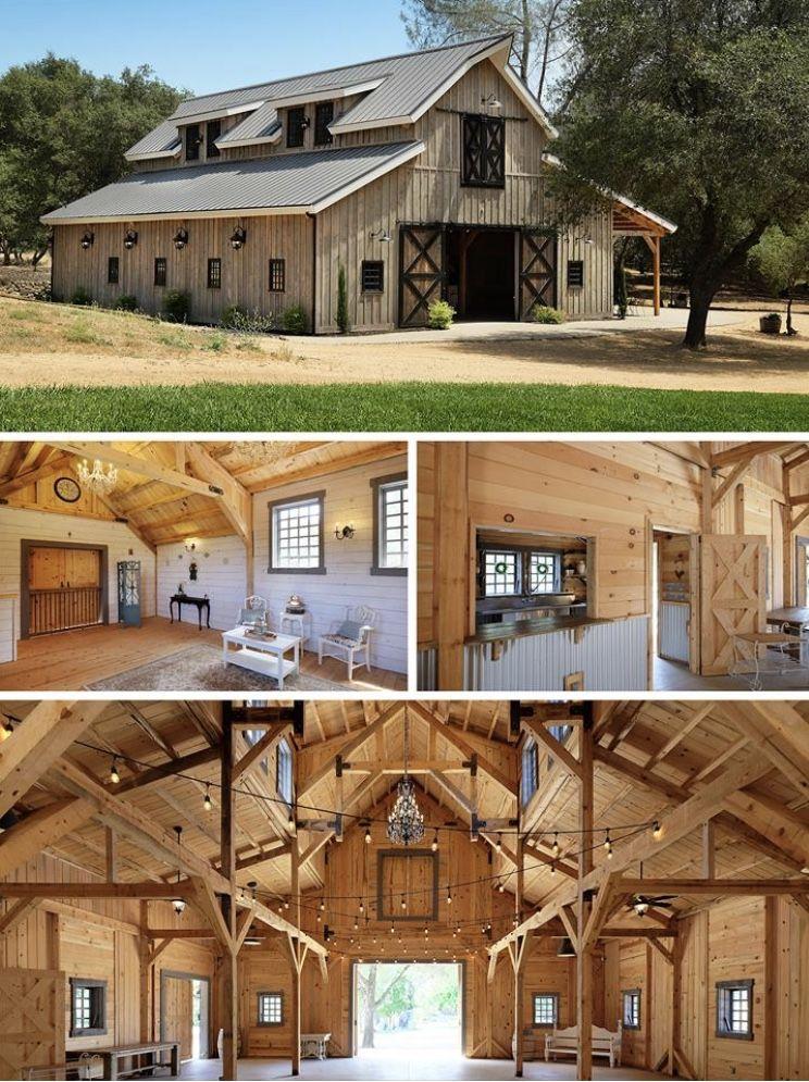 Sand Creek Post And Beam Barn Hausbau Pinterest Casas