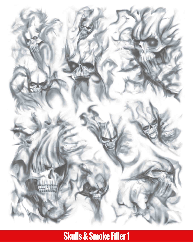 Skulls Smoke Filler 1 Jpg 2400 3000 Tattoo Sleeve Filler Smoke Tattoo Sleeve Tattoos