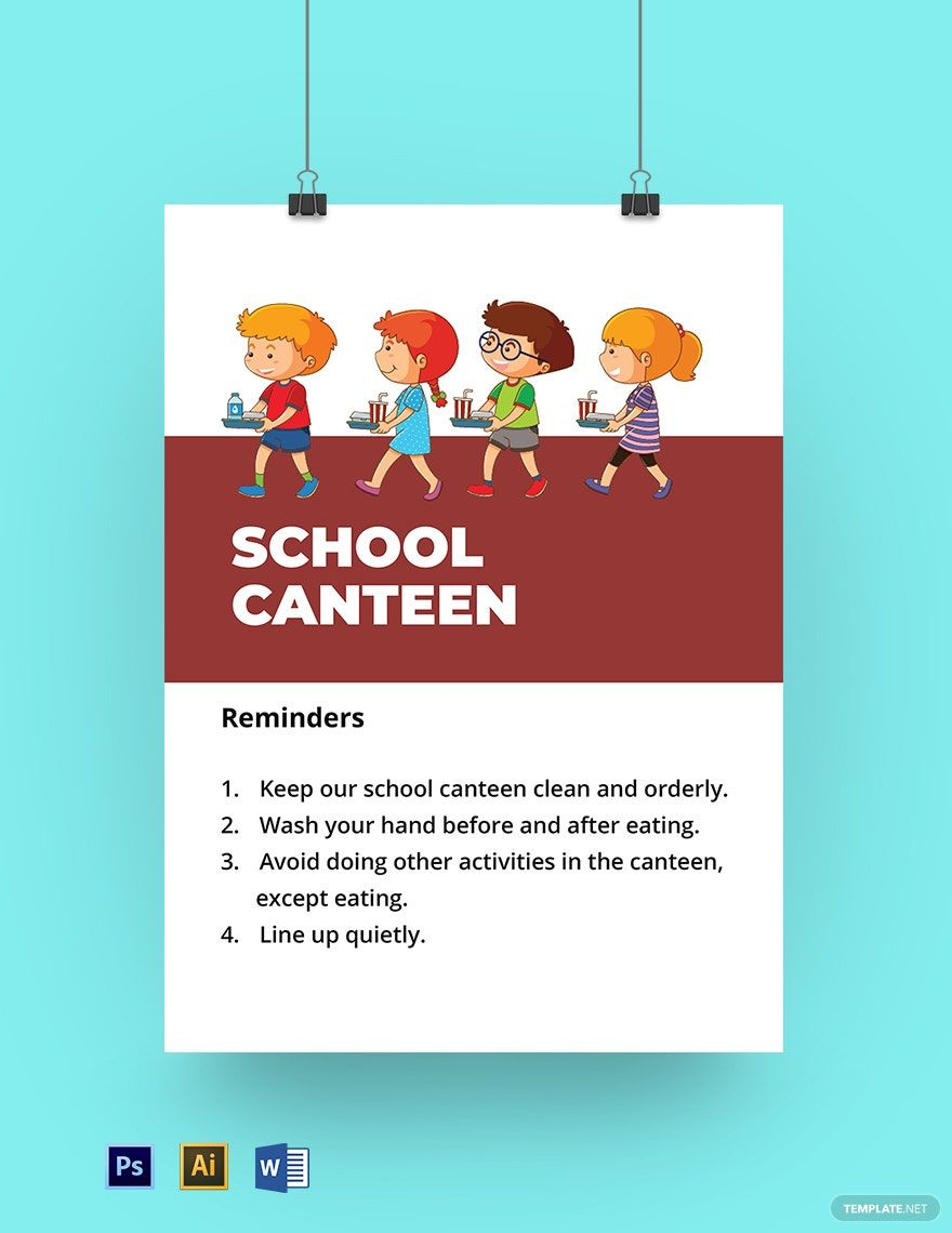 School Canteen Signage Template In 2020 School Video Tutorials Youtube Templates
