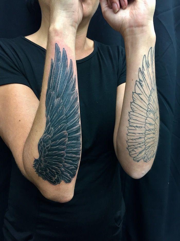 1001 coole und inspirierende fl gel tattoo designs und ihre beudetungen tattoos pinterest. Black Bedroom Furniture Sets. Home Design Ideas