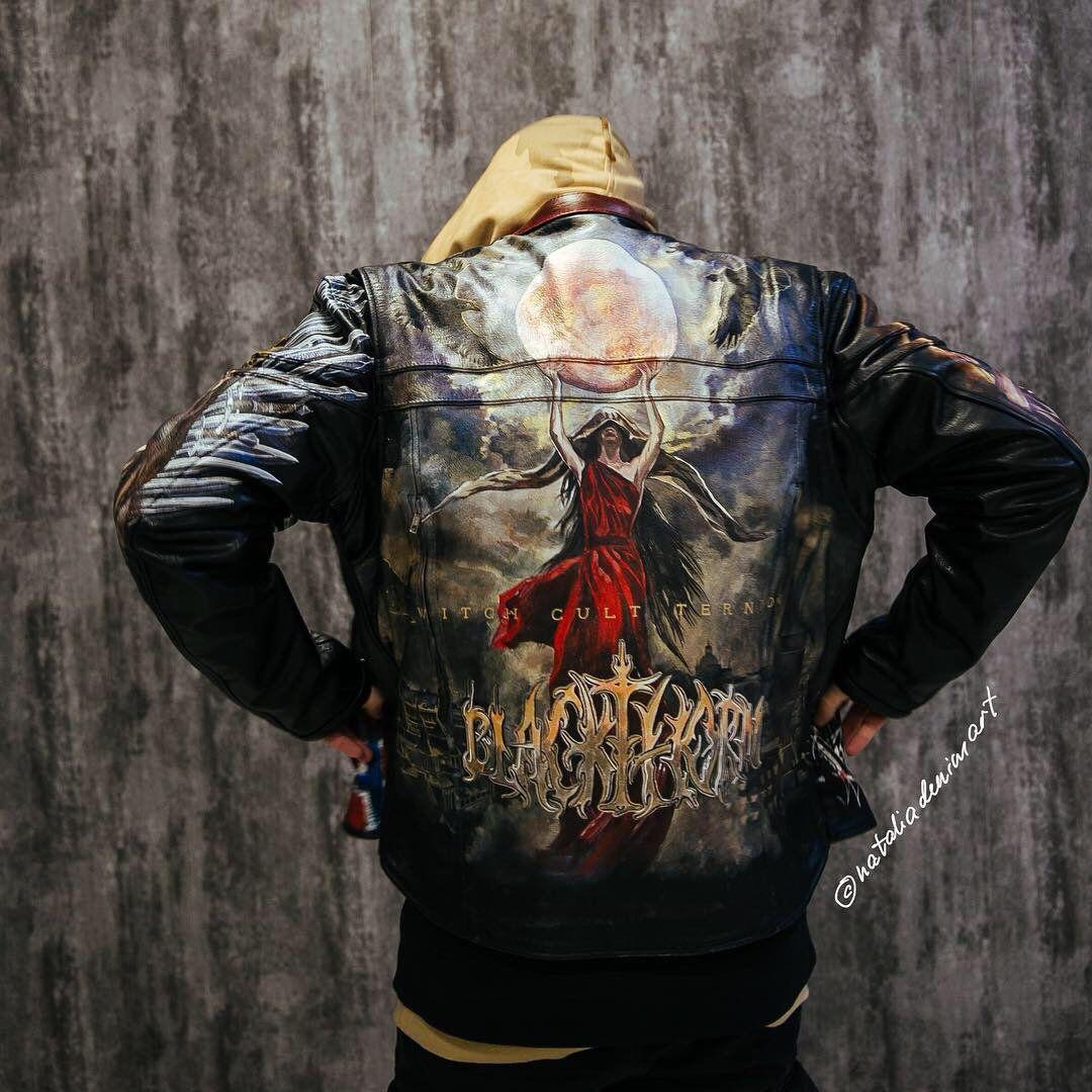 Biker Moto Aesthetic Clothing Custom Hand Painted Black Etsy Studded Denim Jacket Painted Jacket Hand Painted Leather Jacket [ 1080 x 1080 Pixel ]