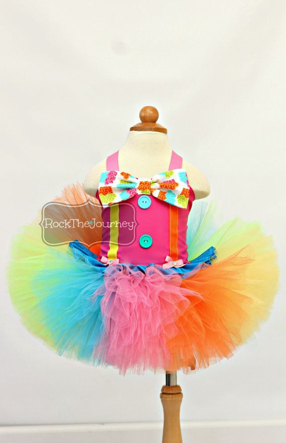 Pink Polka Dot Clown Tutu Outfit Circus by RockTheJourney on Etsy