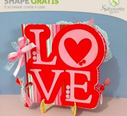 e4e13e032610e Free Studio file from Silhouette Brasil 3D DIY mini album LOVE » Shape 62   Mini Álbum Dia dos Namorados - Silhouette Brasil