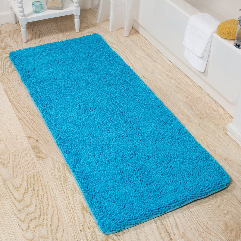 Lavish Home Memory Foam Shag Bath Mat 24 X 60 In Bath Rugs