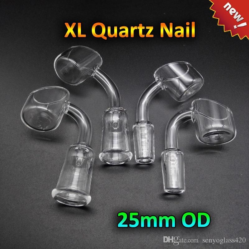 New Quartz Banger Quartz Nail With 2.2mm Thick 25mmOD 10mm 14mm 18mm ...