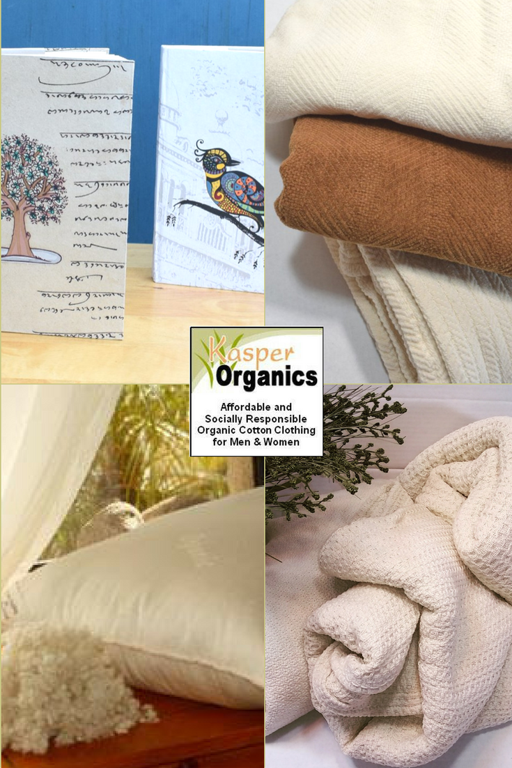 organic cotton sheets towels handmade hand painted journals