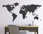 Welt Karte Wand Vinyl Aufkleber