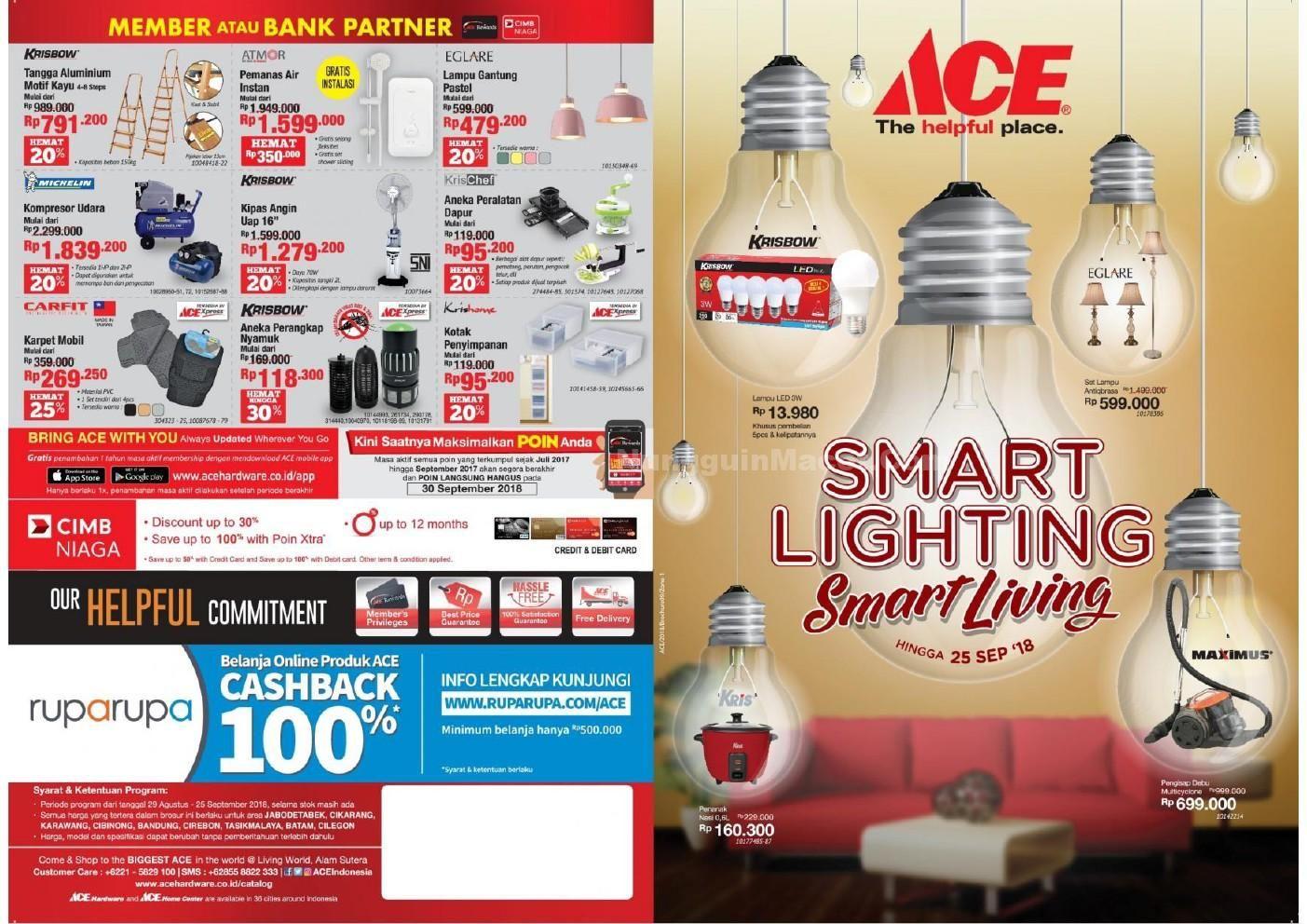 Tau Promo Terbaru Dari Ace Hardware Promo Ace Hardware Indonesia Smart Lighting Smart Living Berlaku Mulai 29 August 2018 Perlengkapan Dapur Teknik Produk