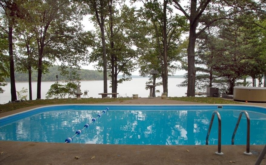 The Ultimate Pool With The Ultimate View 40x20 Feet Lake House Rentals Lake House House Rental