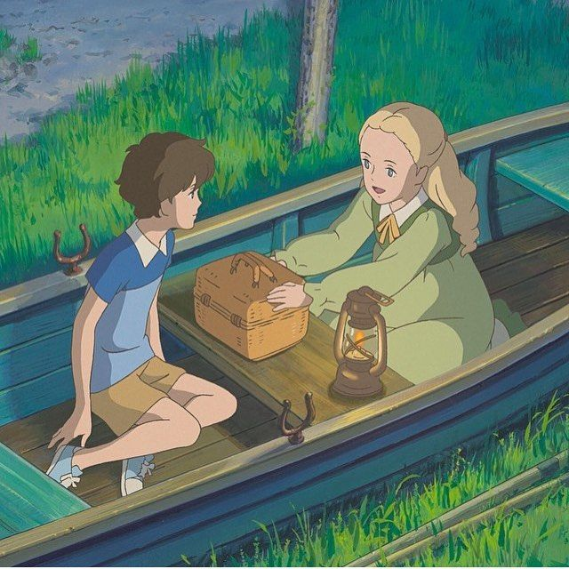 "Studio Ghibli on Instagram: ""Happy Easter!🐰🌹 When Marnie was there 🍇 #StudioGhibli #Ghibli #Whenmarniewasthere #Marnie #Ana // For @ethanhaydock @_noviart @lalako_chan…"""