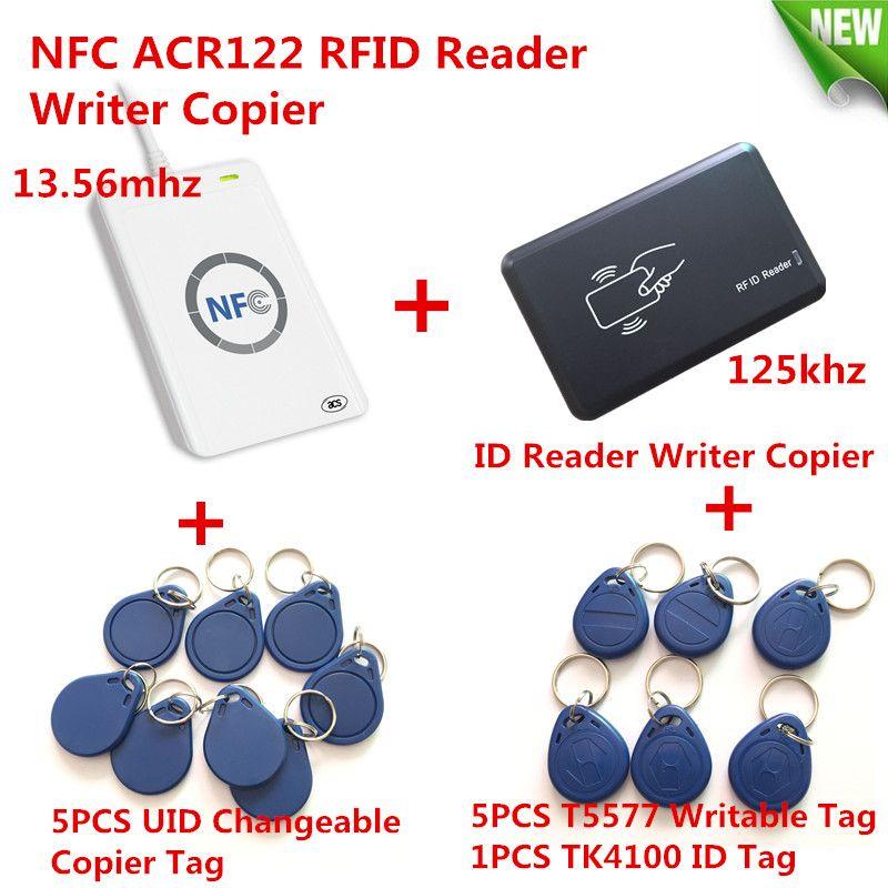 NFC ACR122U HF RFID Card &125KHZ ID Reader Writer Duplicate