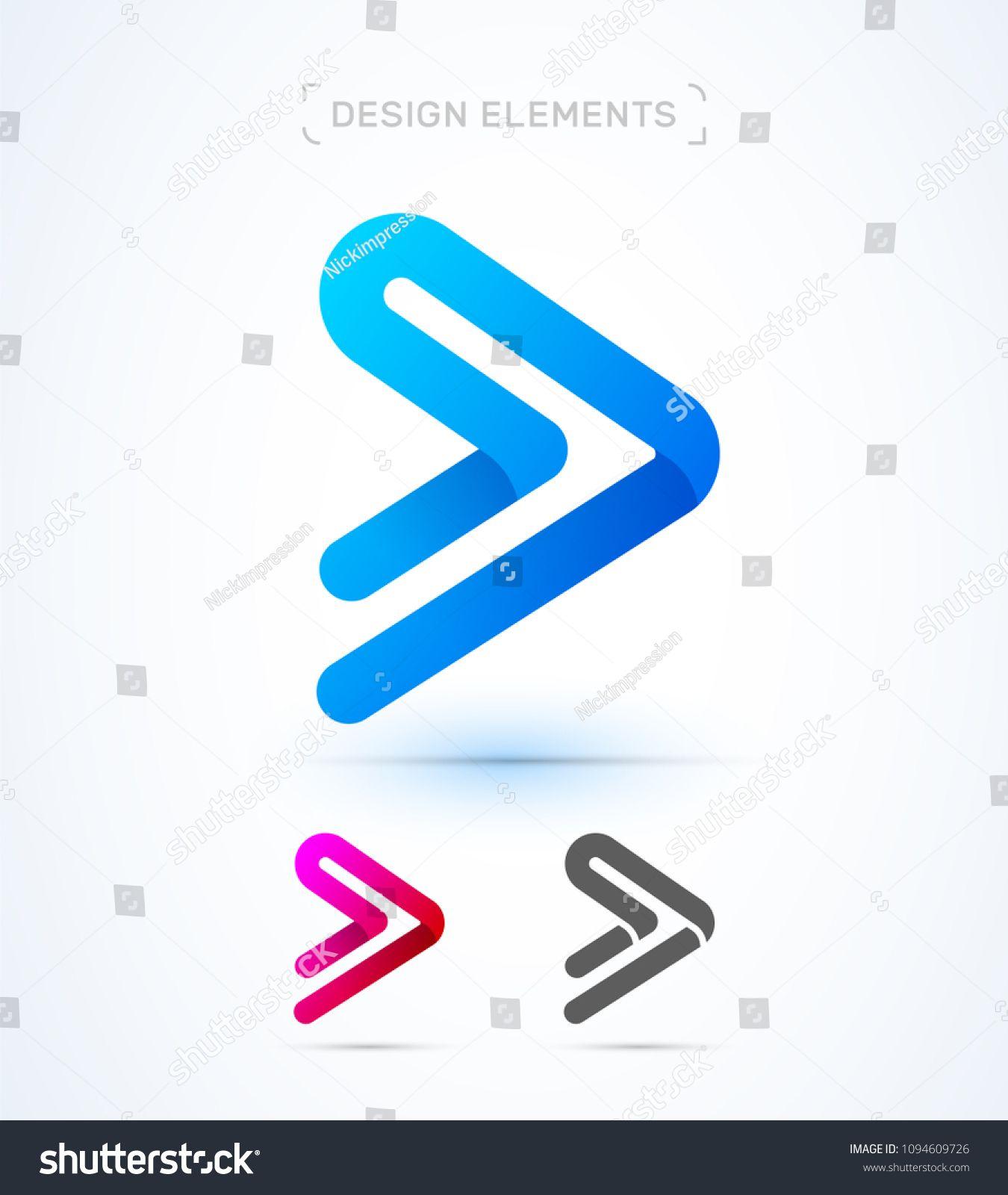 Vector Abstract Play Button Arrow Logo Template Material Design