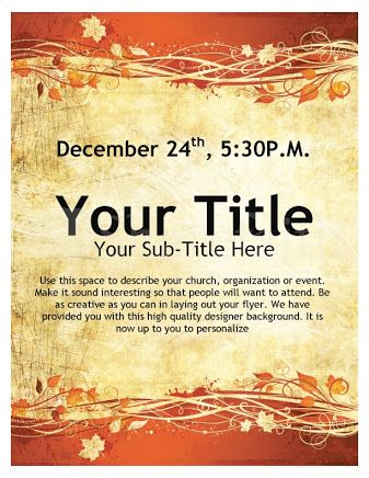 Church Flyer Templates Free Google Search Free Flyer Templates