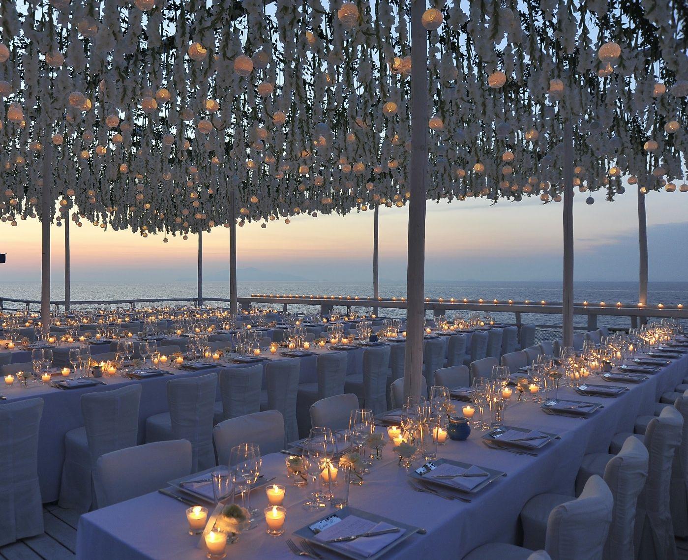 Contemporary White Wedding In Capri Italy Designed By Diana Sorensen For Sugokuii Events