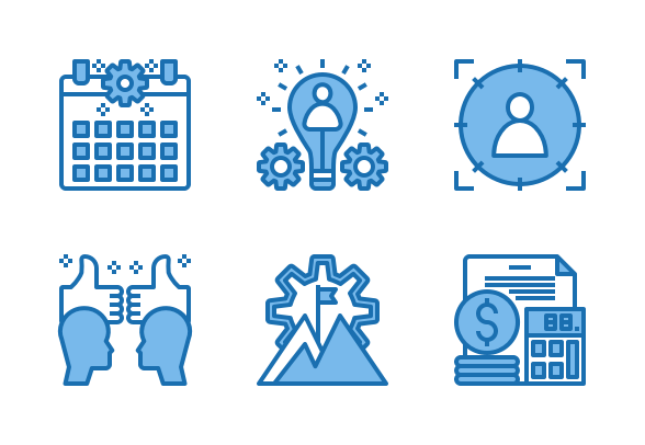 Digital Marketing Blue Icons By Phat Plus In 2020 Digital Marketing Digital Marketing