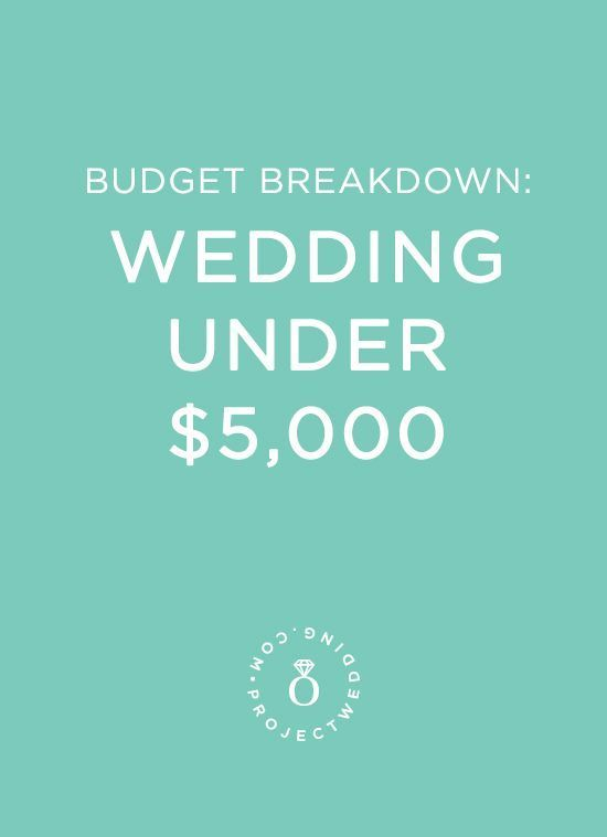 A Wedding for Under $5,000 | Buy alcohol, Real couples and Weddings