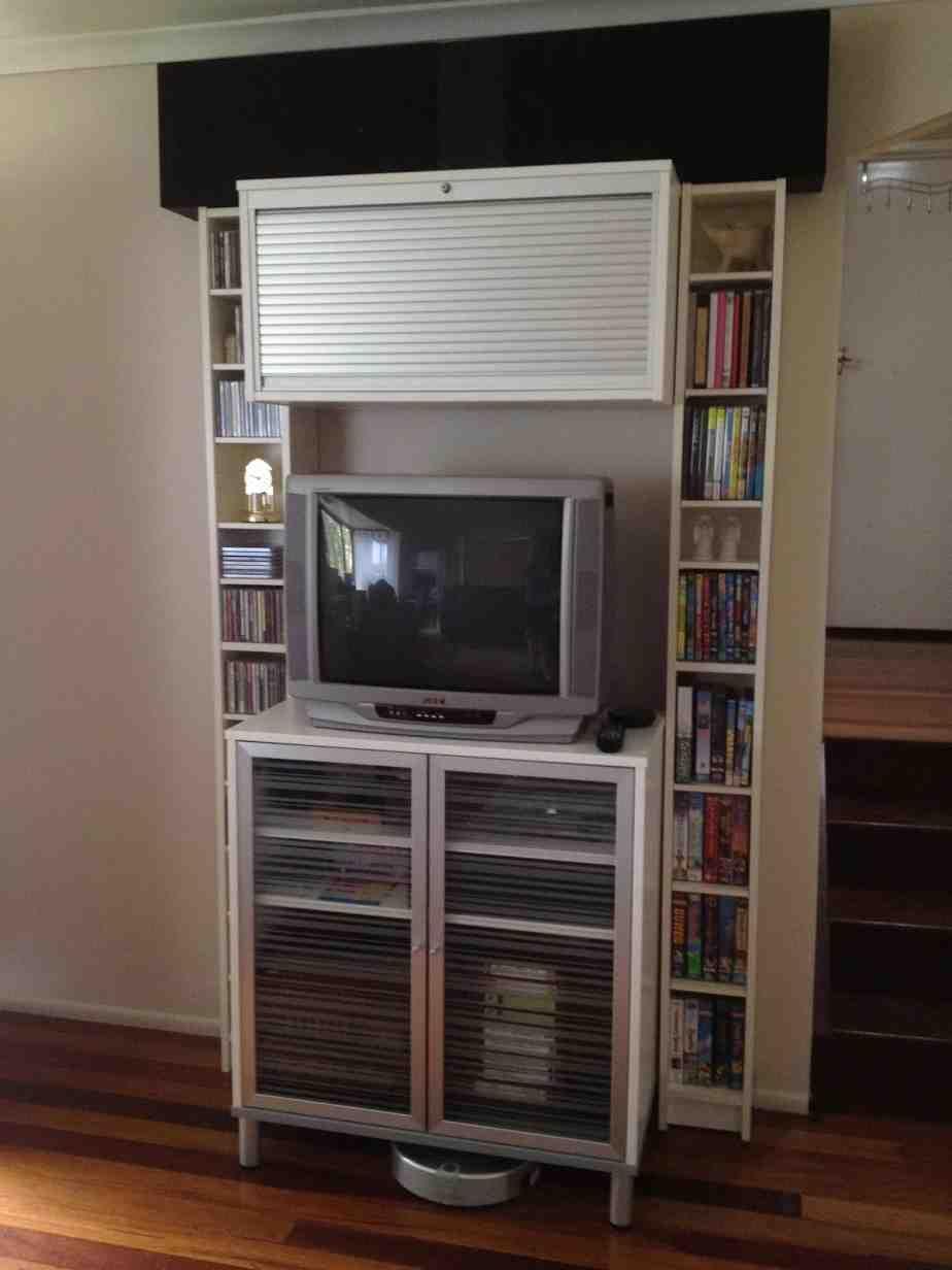 Vertical Entertainment Cabinet