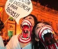 Amazing protest face paint