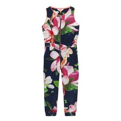 68d0ae7af07 Baker by Ted Baker Girls  multi-coloured floral print jumpsuit ...