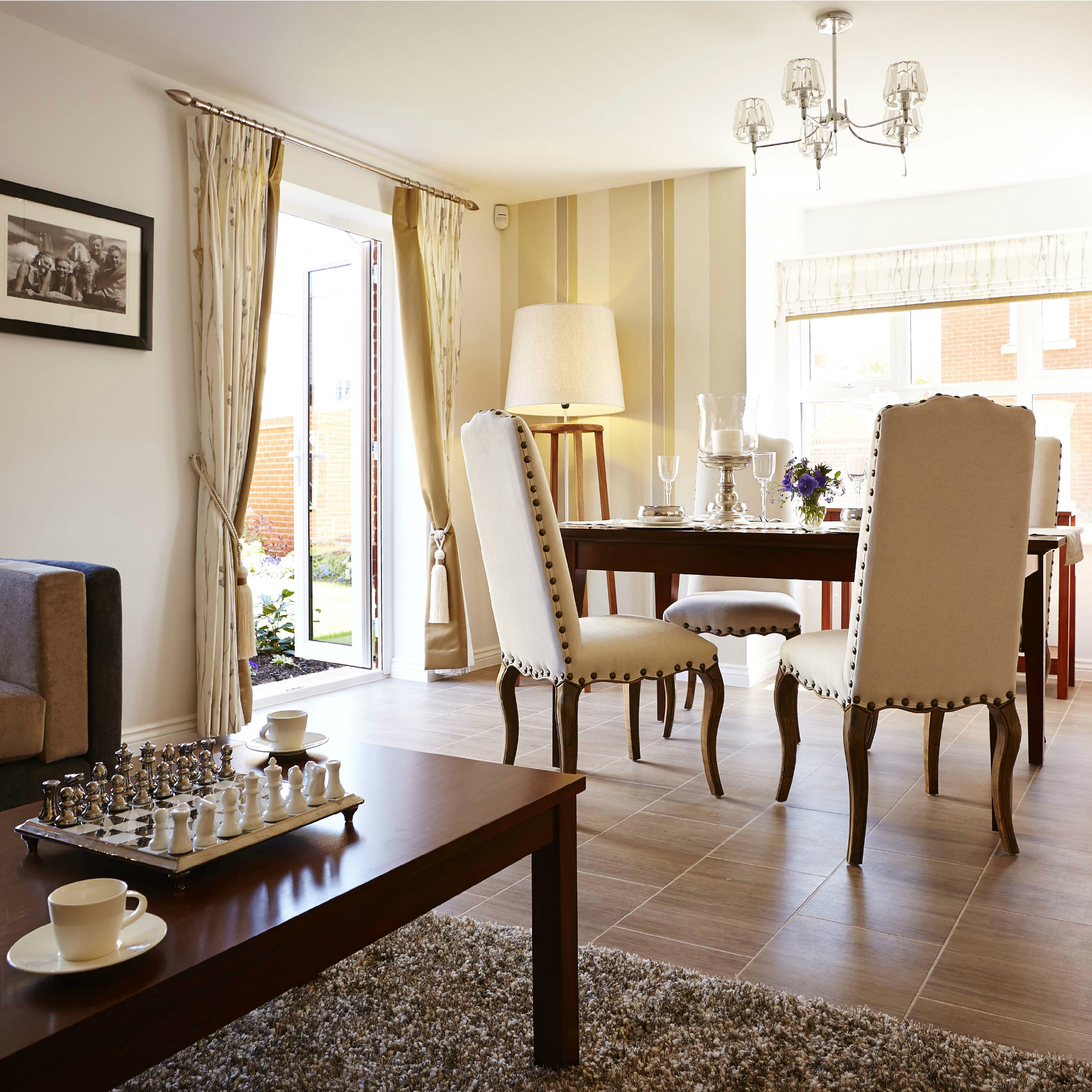 This Dual Aspect Living Dining Room Has Been Tastefully Decorated  # Muebles Tipo Wimpy